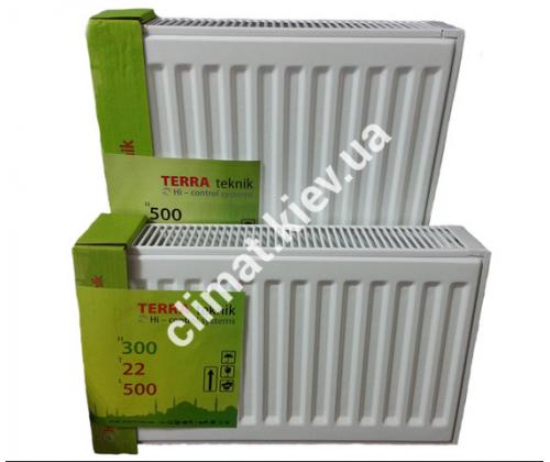 Стальные радиаторы Terra Teknik 22 тип H=500 L=700 боковое